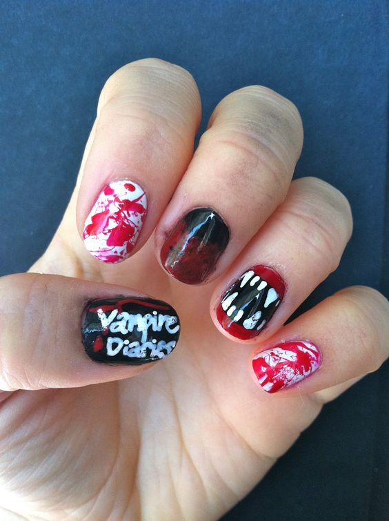 Vampire Diaries Nails