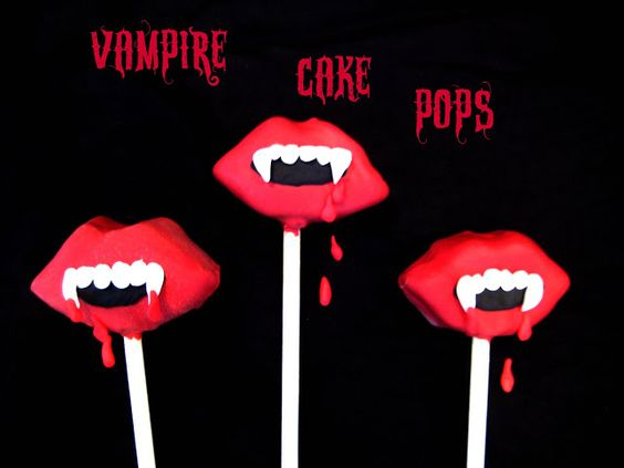 Bubble and Sweet: Vampire Cake Pop Redux