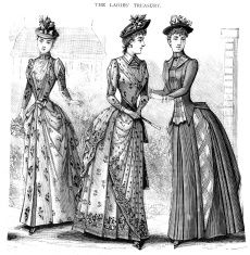 Cena della moda vittoriana costumi illustrazione stock 10998683 - iStock
