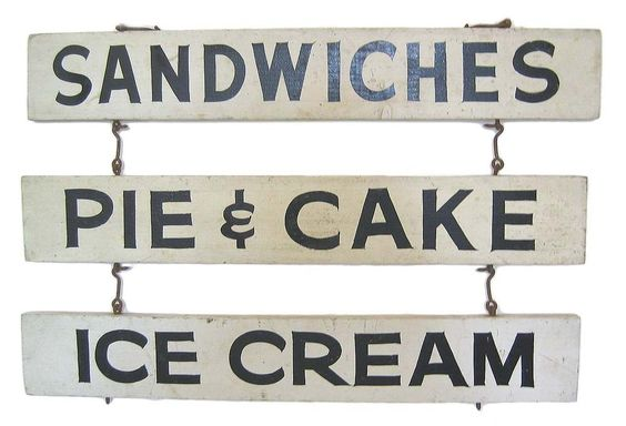 Vintage diner signs - I would love to make these and hang them outside in my backyard!