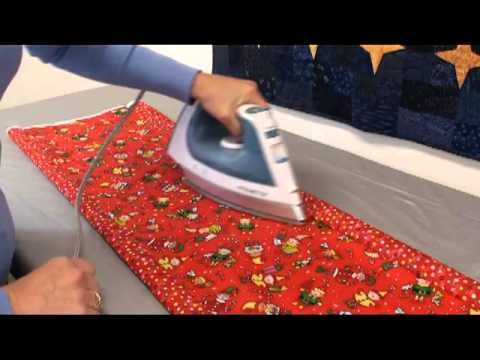 A three minute tutorial to sew a ten minute table runner for 10 minute table runner video