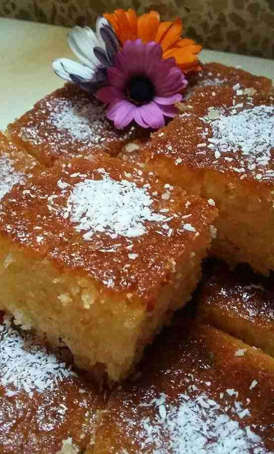 بسبوسة جوز الهند الملكية ملكة الحلويات الشرقية زاكي Dessert Recipes Food Arabic Food