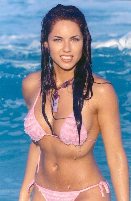 Barbara Mori looking hot in a bikini...