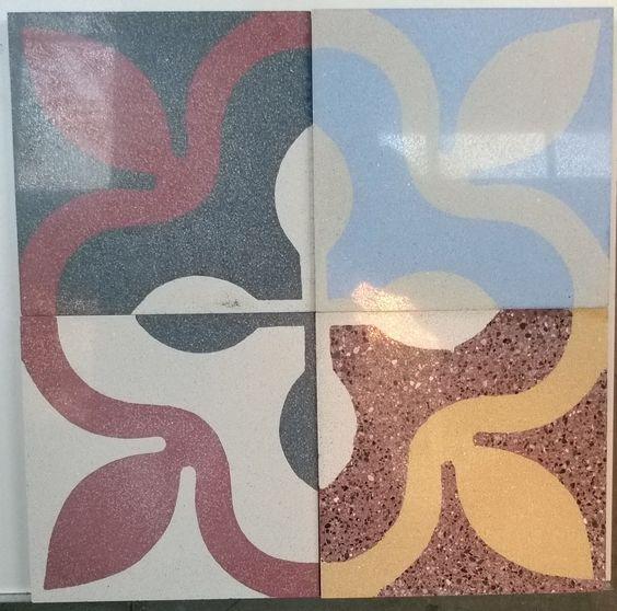 Azulejos - composizione di vari colori e diverse granulometrie di graniglie - Design by La Gioviale: