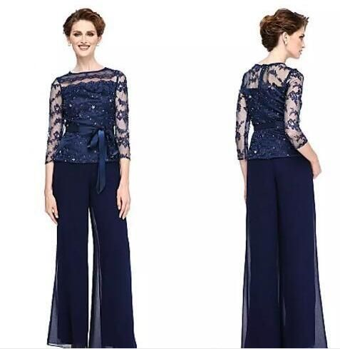 Navy Mother Of The Bride Pantsuit