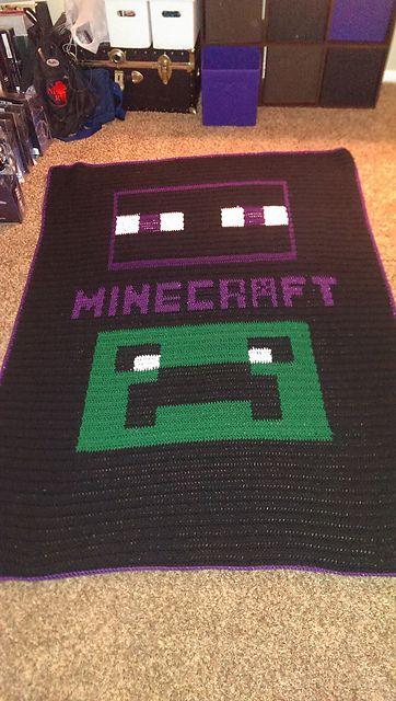 Minecraft Crochet Afghan Pattern Free : Minecraft blanket, Minecraft and Ravelry on Pinterest
