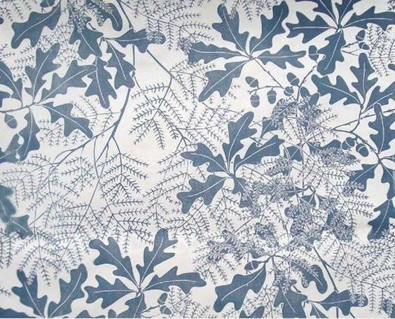 Marthe Armitage's papers are hand-printed to order in fanciful patterns featuring flora and fauna and bucolic country scenes (including Oakleaf, shown above). Available from Hamilton Weston.