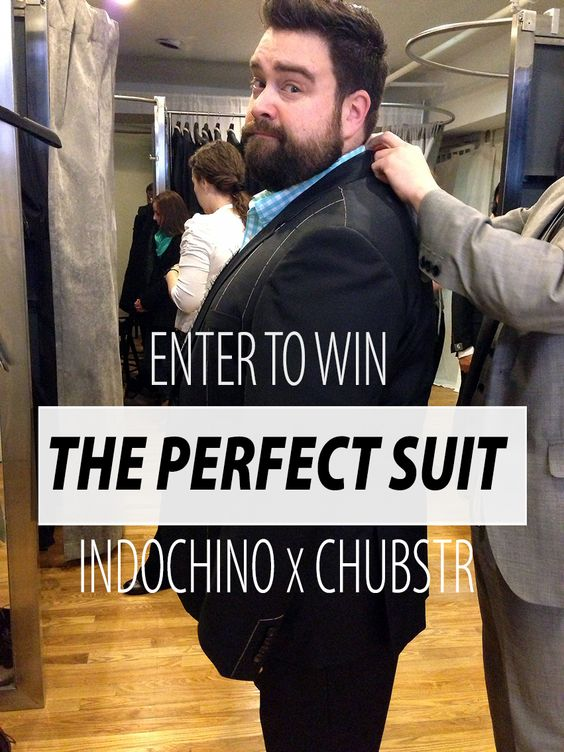 It's Chubstr Contributing Editor Matthew Simko getting fitted for