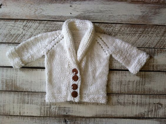 Baby Boy Blessing Knitted Jacket  Christening by Adelaesfashions
