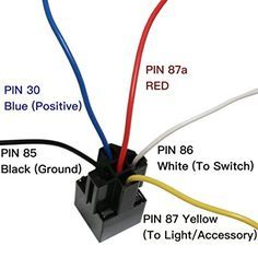 Amazon Com 5 Pack Epauto 30 40 Amp Relay Harness Spdt 12v Bosch Style Automotive Automotive Repair Relay Electrical Circuit Diagram