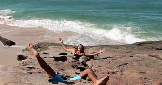 Pedra da Lua faz visitantes 'perderem a cabeça' com truque no Rio; assista
