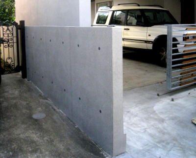 札幌市清田区 K様邸 エクステリア 門 塀 表札 目隠し シックな塀