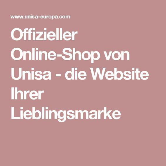 Offizieller Online-Shop von Unisa - die Website Ihrer Lieblingsmarke
