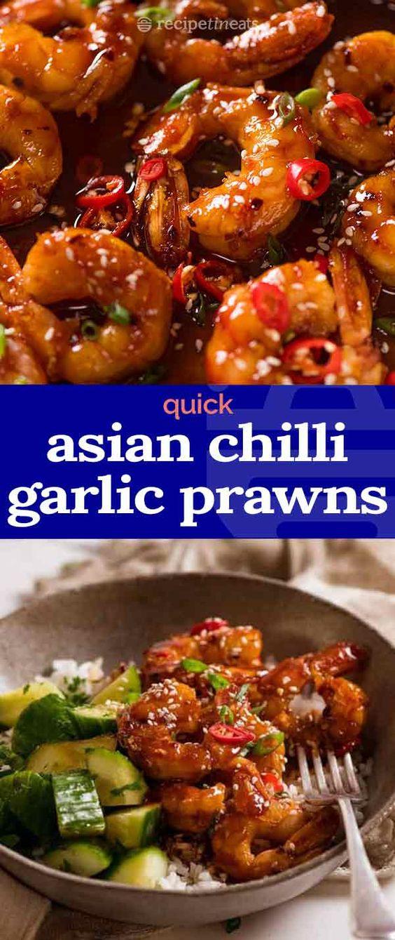 Asian Chilli Garlic Prawns