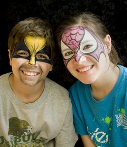 facepainting for children's birthday parties in Tampa, Brandon, Valrico and St Petersburg FL