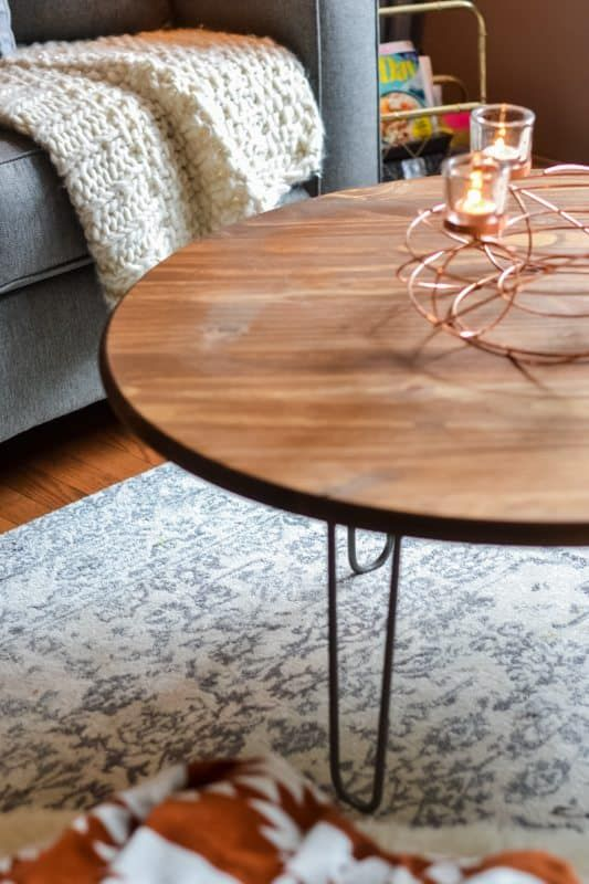 Build Your Own Diy Coffee Table With Hairpin Legs In One Afternoon