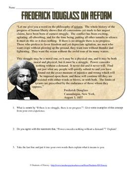 Printables Frederick Douglass Worksheet primary sources warm and activities on pinterest this fantastic common core aligned source activity features a short excerpt from one of frederick douglass speeches in which he talks abo