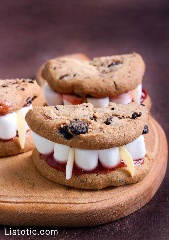 # 9.  Las cookies dientes de vampiro |  15 Super fácil Halloween trata de Ganar