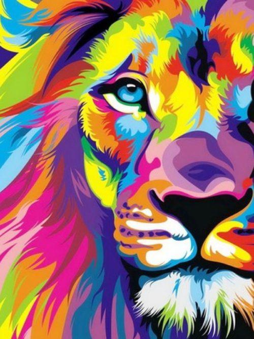 Лев в цветах