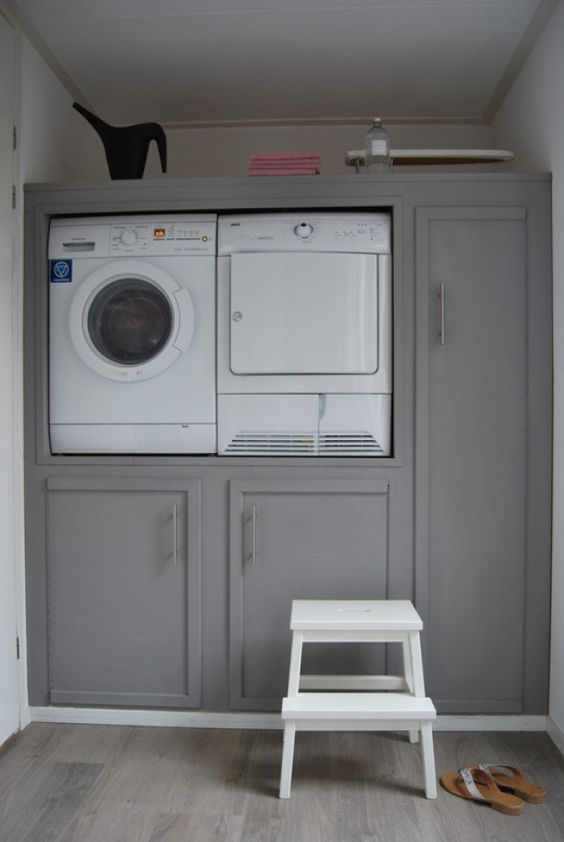 wasmachine in de kast   Laundry Room   Pinterest   TES und Om