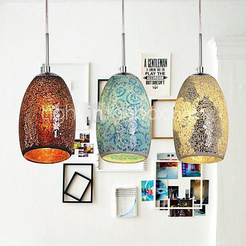60W Tradicional/Clásico / Tiffany / Cosecha Pintura Metal Lámparas Colgantes - EUR €42.33