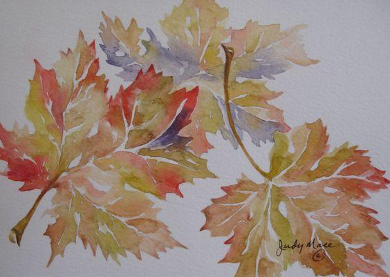 Feuilles dérable automne peint à la main par DakotaPrairieStudio