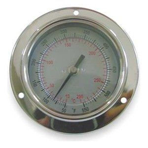 """Bimetal Therm, 2-1/2 In Dial, -40to160F by Dwyer Instruments. $28.70. Panel Mount. Analog Panel Mount Thermometer-40 Degrees to 160 Degrees Temp. Range (F), Dial Size 2-1/2 In.Case Material Stainless SteelAccuracy +/-1 Percent Specialty Bimetal Dial ThermometersCorrosion-resistant stainless steel housings are hermetically sealed to prevent crystal fogging in tough environments.Accuracy: 1% 1/4""""-dia. stem Stainless steel construction Glass display window"""