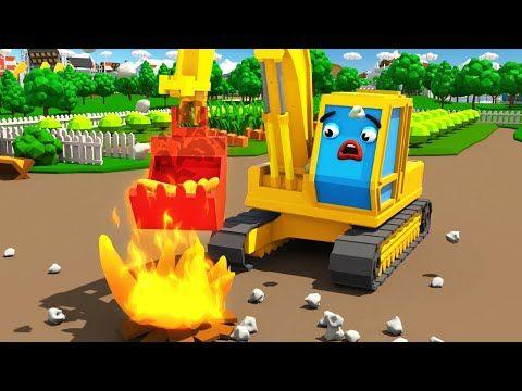 Bagger Kinderfilm Der Gelbe Bagger Pol Auf Dem Bauernhof Maschinen Team Cartoon Fur Kinder Youtube Kinder Filme Monster Truck Kinderfilm
