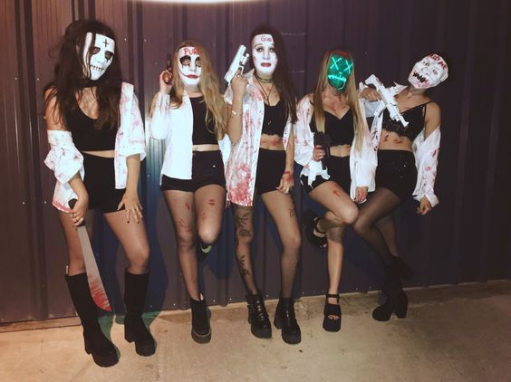 10 Funny and Scary Group Halloween Costumes Ideas for Girls