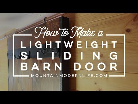 How To Make A Lightweight Sliding Barn Door Youtube Barn Door Sliding Barn Door Diy Sliding Barn Door