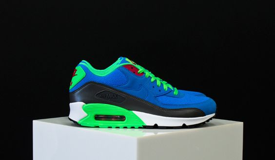 Nike Air Max 90 Essential – Photo Blue / Medium Ash   Poison Green