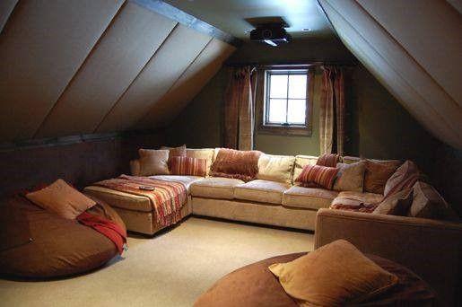 Attic Room Addition Atticroom Atticroom Home Theater Rooms Home Attic Spaces