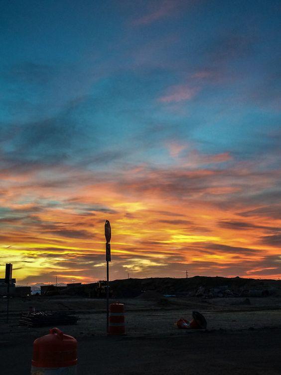 Stapleton Transfer Center, Denver, Colorado — by Krystalvation. #denver #colorado #sunset #goldenhour