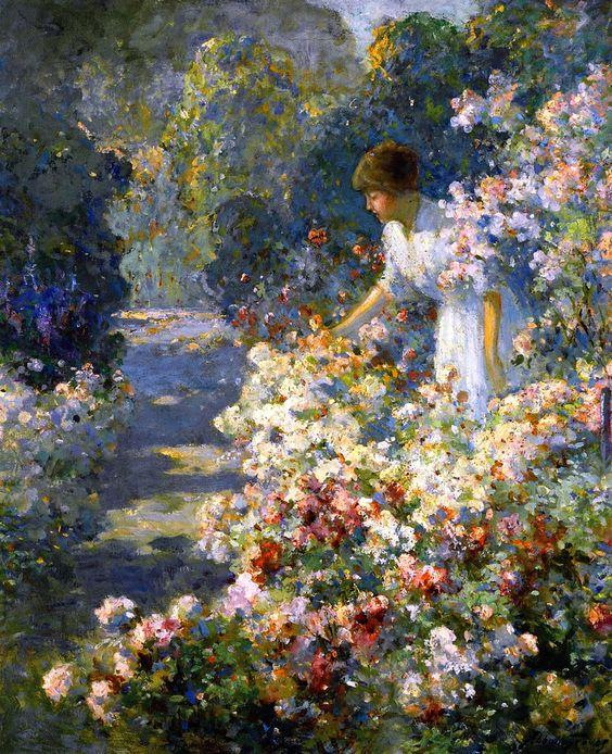 Abbott Fuller Graves - Morning in the Garden: