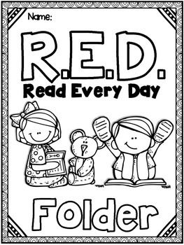 FREE Take Home Reading - RED (Read Every Day) Folder and Reading Log