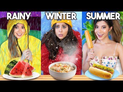 Guess The Season Food Challenge Very Hard Azzyland Youtube Food Challenge Food Winter Food