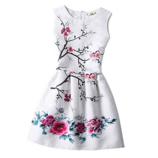 Sukienka Wizytowa Przyjecie Komunia Wesele 158 162 7279738118 Oficjalne Archiwum Allegro Printed Casual Dresses Kids Summer Dresses Girls Dresses Summer