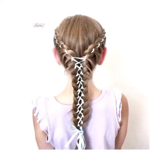 Laced ribbon braid By: @hair_by_lori