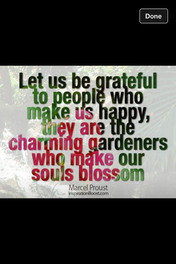 People who make your soul blossom