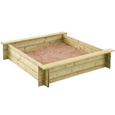 Bac à sable 1,2 x 1,2m Trigano - Trampoline / Balançoire / Toboggan - Jeux de Plein Air - Jardin / Plein Air | GiFi