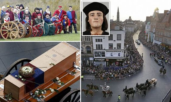 In one of the strangest royal processions in history, the remains of Richard III progressed through Leicester, with the king making his way past KFC, McDonald's and the rest.