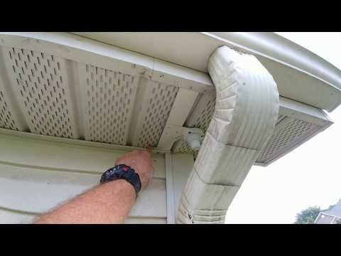 Installing Security Cameras Under Eave With Vinyl Sofit Youtube Security Camera Installation Vinyl Soffit Security Camera