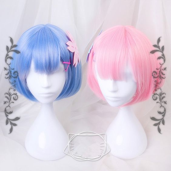 """Pink/blue cosplay wig use this Coupon code """"cherry blossom"""" for 10% off everytime you shop at (www.sanrense.com)"""