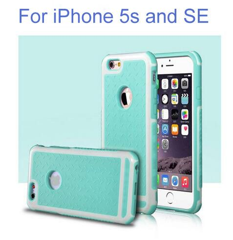 Ultra Thin Shockproof Rubber PC and TPU Hybrid Case Cover For Apple iPhone 5S SE 6 6S 6 plus High Quality Shell Phone Case Cover