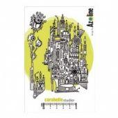 Carabelle Studio Stamp Set - Ville d'ailleurs - Urbania par Azoline - SA60139
