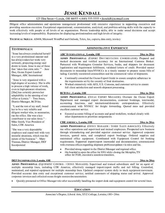 your free professional resume cvsafe online builder examples - freight forwarder resume sample
