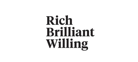 Rich Brilliant Willing designed by Project Projects.