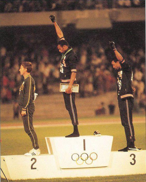 Brilliant olympics black fist protest