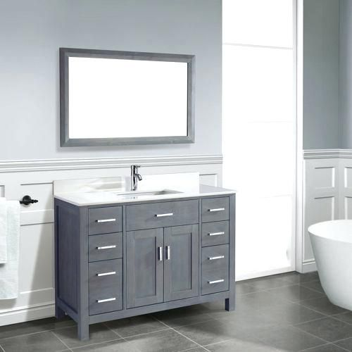 There Are Countless Ideas For Bathroom Vanities Yet Below Are 9 We Assume You Ll Enjoy Grey Bathroom Vanity Bathroom Vanity Decor Traditional Bathroom Vanity