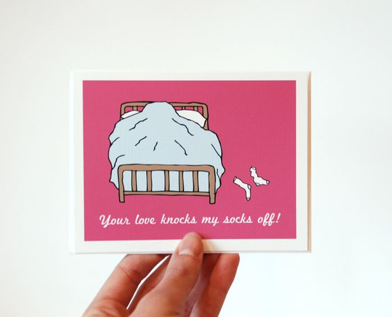 Funny Anniversary Card Sexy Anniversary Card Your Love Knocks – Naughty Valentine Day Cards